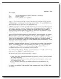 Hurricane Katrina Recovery Efforts by Environmental Protection Agency