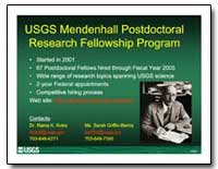 Usgs Mendenhall Postdoctoral Research Fe... by Environmental Protection Agency
