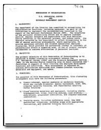 Memorandum of Understanding U, S, Geolog... by Environmental Protection Agency