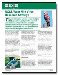 Usgs West Nile Virus Research Strategy by Environmental Protection Agency
