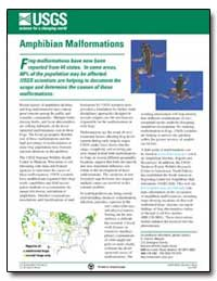 F Rog Malformations Have Now Been Report... by Environmental Protection Agency