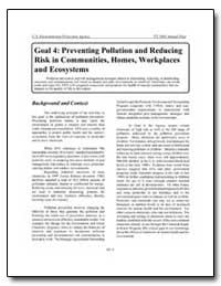 Goal 4 : Preventing Pollution and Reduci... by Environmental Protection Agency