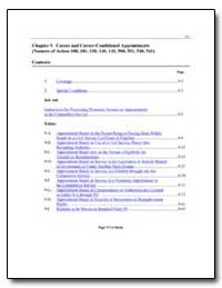 Chapter 9. Career and Career-Conditional... by Environmental Protection Agency
