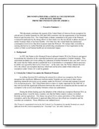2003 Nomination for a Critical Use Exemp... by Environmental Protection Agency