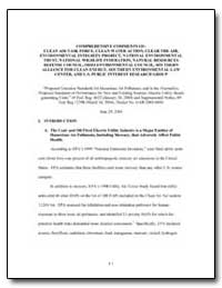 Comprehensive Comments of : Clean Air Ta... by Environmental Protection Agency