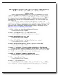 2005 Re-Application Information for the ... by Environmental Protection Agency