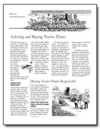 Selecting and Buying Native Plants by Environmental Protection Agency