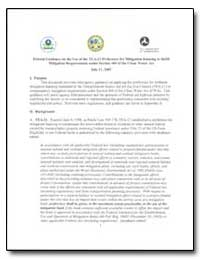 Federal Guidance on the Use of the Tea-2... by Peters, Mary