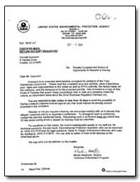 United States Environmental Protection A... by Hestmark, Martin