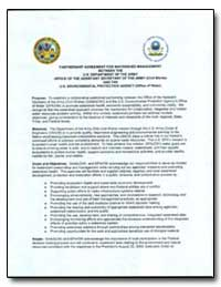 Partnership Agreement for Watershed Mana... by Environmental Protection Agency