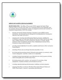 Office of Wastewater Management by Environmental Protection Agency