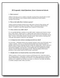 20 Frequently Asked Questions about Asbe... by Environmental Protection Agency