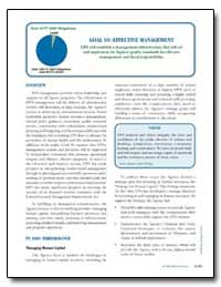 Goal 10 : Effective Management by Environmental Protection Agency