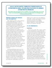 Progress Toward the Strategic Goal and O... by Environmental Protection Agency