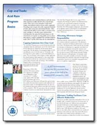 Cap and Trade : Acid Rain Program Basics by Environmental Protection Agency