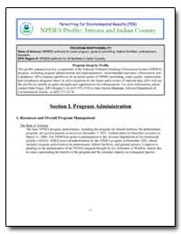 Npdes Profile : Arizona and Indian Count... by Environmental Protection Agency