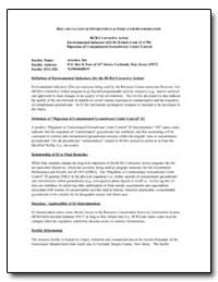 Documentation of Environmental Indicator... by Environmental Protection Agency