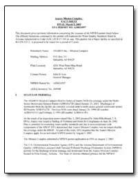 Asarco Mission Complex Fact Sheet Final ... by Low, John D.