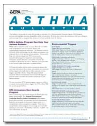 Asthma : While Asthma Cannot Be Cured, I... by Environmental Protection Agency