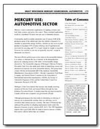 Mercury Use : Automotive Sector by Environmental Protection Agency