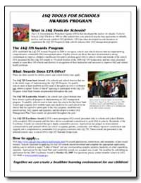 Iaq Tools for Schools Awards Program by Environmental Protection Agency
