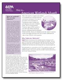 American Wetlands Month by Environmental Protection Agency