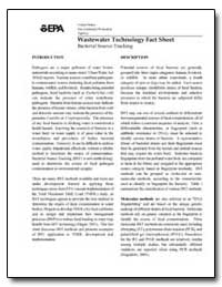 Wastewater Technology Fact Sheet by Environmental Protection Agency
