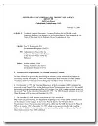 Technical Support Document - Adequacy Fi... by Wentworth, Paul T.