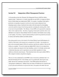 Integration of Best Management Practices by Environmental Protection Agency