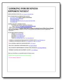 Looking for Business Opportunities? by Environmental Protection Agency