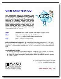 Get to Know Your H2O! by Environmental Protection Agency