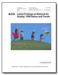 Latest Findings on National Air Quality ... by Environmental Protection Agency