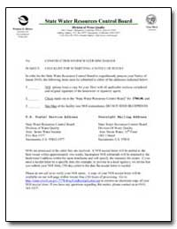 State Water Resources Control Board by Environmental Protection Agency