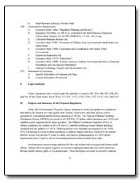 XIII. Administrative Requirements by Environmental Protection Agency