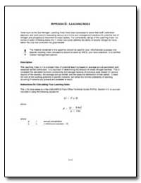 Appendix G : Leaching Index by Environmental Protection Agency