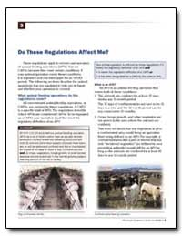 Do These Regulations Affect Me? by Environmental Protection Agency