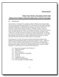 Industry Subcategorization for Effluent ... by Environmental Protection Agency