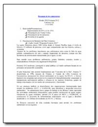 Resumen de Los Comentarios by Environmental Protection Agency