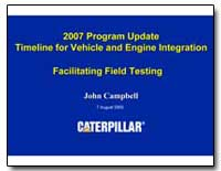 2007 Program Update Timeline for Vehicle... by Campbell, John