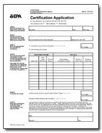 Certification Application by Environmental Protection Agency