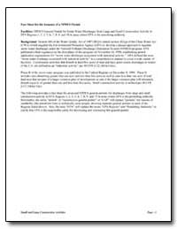 Fact Sheet for the Issuance of a Npdes P... by Environmental Protection Agency