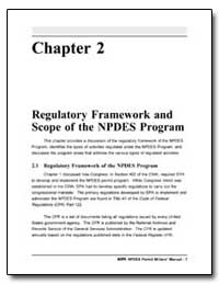 Chapter 2 : Regulatory Framework and Sco... by Environmental Protection Agency