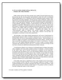 Evaluating Substantial Impacts : Public ... by Environmental Protection Agency