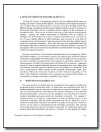 Determination of Widespread Impacts by Environmental Protection Agency