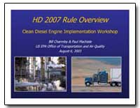 Hd 2007 Rule Overview Clean Diesel Engin... by Charmley, Bill
