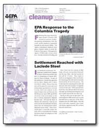 Cleanupnews Epa Response to the Columbia... by Environmental Protection Agency
