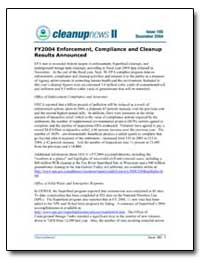 Fy2004 Enforcement, Compliance and Clean... by Environmental Protection Agency