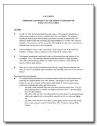 Fact Sheet Proposed Amendments to Air To... by Environmental Protection Agency