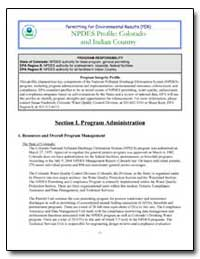 Npdes Profile : Colorado and Indian Coun... by Environmental Protection Agency