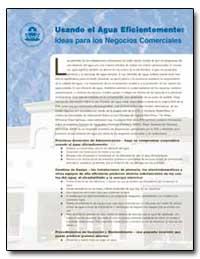 Usando el Agua Eficientemente : Ideas pa... by Environmental Protection Agency